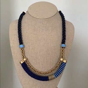 Stella & Dot navy rope and bead necklace